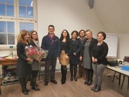 Ausklang der Veranstaltung mit den türkischen ElternvertreterInnen, LehrerInnen und dem Attasche